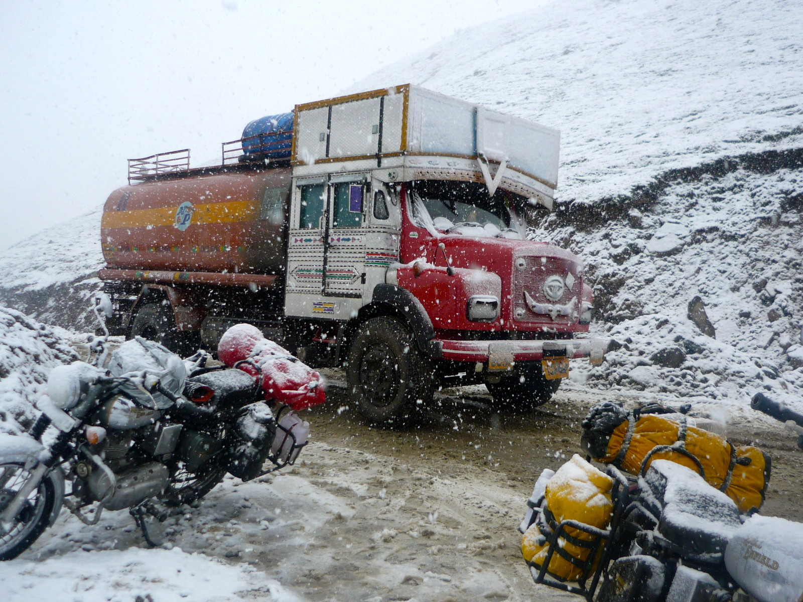 Rhotang La blizzard